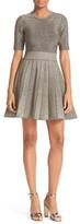 A.L.C. Susana Metallic Knit Fit & Flare Dress