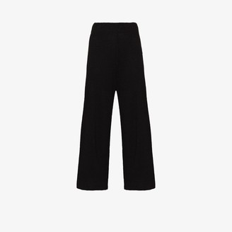 ST. AGNI Cropped Linen Trousers