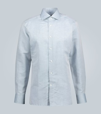 Ermenegildo Zegna Slim-fit linen and cotton shirt