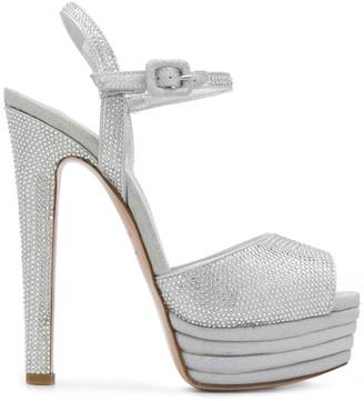 Le Silla Crystal-Embellished Platform 150mm Sandals