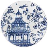 Caskata Chinoiserie Round Platter - White/Blue