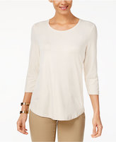 JM Collection Petite Metallic Top, Created for Macy's