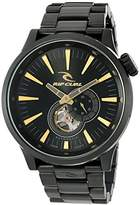 Rip Curl Men's 'Recon XL Auto Midnight SS' Japanese Automatic Stainless Steel Sport Watch, Color:Black (Model: A2896-MID)