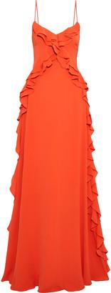 ZAC Zac Posen Ava Ruffle-trimmed Crepe Gown