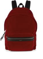 Saint Laurent Velvet backpack