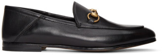 Gucci Black Horsebit Brixton Loafers