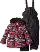 Pink Platinum Little Girls' Fair Isle Print Snowsuit
