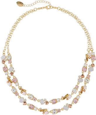 Stella & Ruby 2-Strand Crystal Necklace, Pink