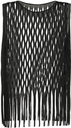 Issey Miyake Open Knit Sleeveless Top