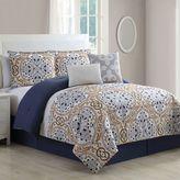 Eden 6-Piece Comforter Set in Blue/Grey