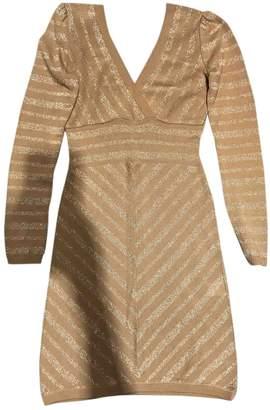 Atos Lombardini Beige Cotton Dress for Women