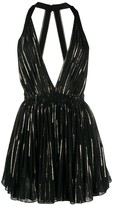 Saint Laurent metallic threading mini dress
