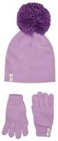 UGG Fine Gauge Knit Hat and Gloves Set (Toddler/Little Kids) (Lavender Fog) Caps