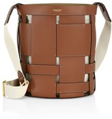 Burberry Foster Woven Leather Bucket Bag