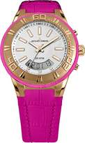 Jacques Lemans Miami Gents Pink Leather Strap Watch 1-1772G