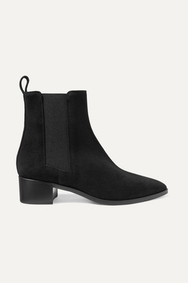 AEYDĒ Lou Suede Ankle Boots - Black