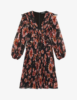 The Kooples Floral-print crepe mini dress