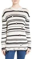 IRO Women's Iane Destroyed Stripe Sweater