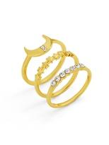 BaubleBar Luna Stackable Ring Set
