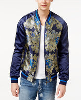GUESS Men's Embroidered Bomber Jacket
