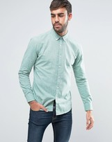Farah Steen 2 Color Shirt Slim Fit Buttondown Oxford in Green