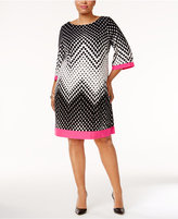 Sandra Darren Plus Size Geo-Print Shift Dress
