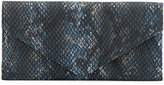 Neiman Marcus Snake-Embossed Envelope Travel Wallet, Multi