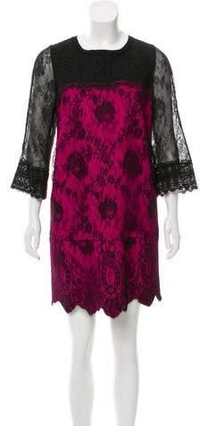 Andrew Gn Lace Mini Dress