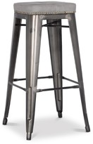 Apt2B Grand Metal Padded Bar Stool VINTAGE GREY - SET OF 4