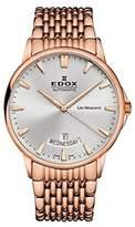 Edox Men's 83015 37RM BIR Les Bemonts Analog Display Swiss Automatic Rose Gold Watch
