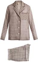 MORPHO + LUNA Cara cotton and silk-blend pyjama set