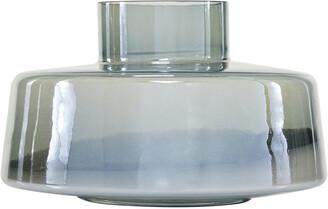 Uma Enterprises Uma Large Round Iridescent Silver Mercury Glass Vase