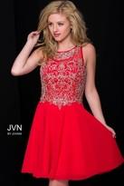 Jovani Elegant Cocktail Dress in Jeweled Bodice JVN41689