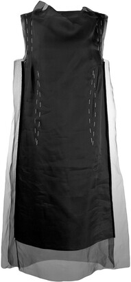 Maison Margiela Sheer Overlay Silk Dress