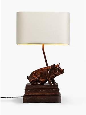 David Hunt Frank the Pig Table Lamp, Copper