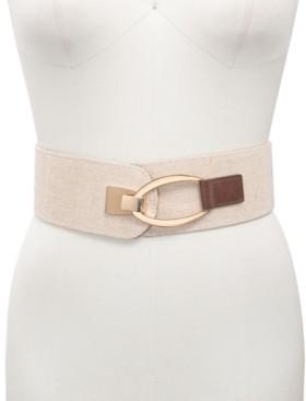 INC International Concepts Inc Interlock Buckle Wide Stretch Belt, Created for Macy's