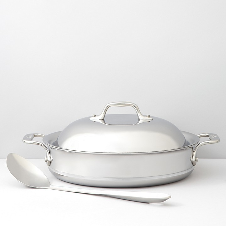 All-Clad 3-Quart Sauteuse with Lid & Spoon
