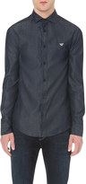 Armani Jeans Custom-fit chambray shirt