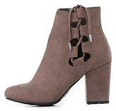 Charlotte Russe Lace-Up Side Ankle Booties