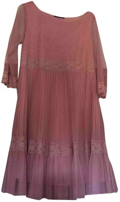 Twin-Set Twin Set Pink Lace Dress for Women