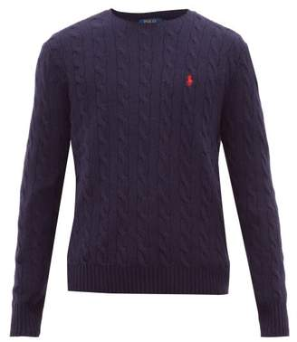 Polo Ralph Lauren Cable Knit Wool And Cashmere Sweater - Mens - Blue