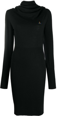 Vivienne Westwood Cowl Neck Midi Jumper Dress