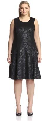 Melissa Masse Plus Women's Sleeveless Fit and Flare Dress