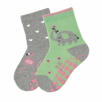 Sterntaler Baby Girls' Abs-sockchen Dp Elefant Calf Socks