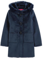 Derhy Kids Duffle coat with a false fur lining
