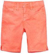 Celebrity Pink Colored Denim Bermuda Shorts, Little Girls (4-6X)