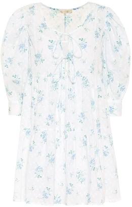 LoveShackFancy Mini Bex floral cotton minidress
