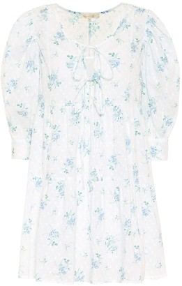 LoveShackFancy Mini Bex floral cotton minidress