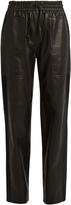 Joseph Astrid loose-fit leather trousers