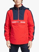 Tommy Hilfiger Tommy Jeans Colour Block Popover, Racing Red/Black Iris